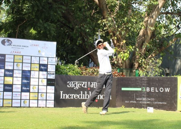 Karandeep Kochhar during the second round of Jeev Milkha Singh Invitational