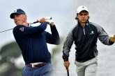 Matt Kuchar and amateur David Micheluzzi at the Australian Open