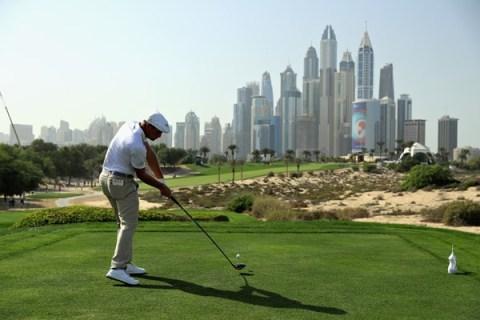 Bryson DeChambeau has a one-stroke lead in the Dubai Desert Classic
