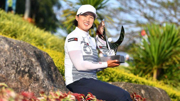 Amy Yang with her Honda LPGA Thailand title - LPGA Images