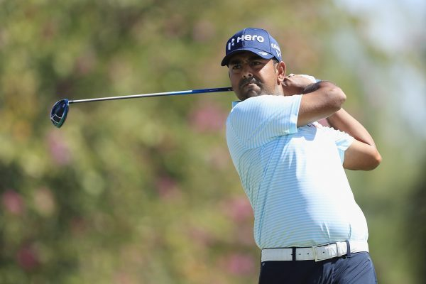 HONOLULU, HI - JANUARY 12: Anirban Lahiri of India plays his shot from the fifth tee during the third round of the Sony Open In Hawaii at Waialae Country Club on January 12, 2019 in Honolulu, Hawaii. (Photo by Sam Greenwood/Getty Images)