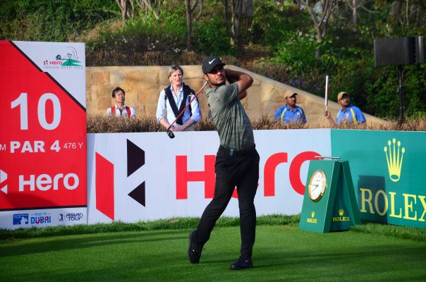 Shubhankar Sharma tie for seventh place, just two shots behind the club house leaders at the opening round of Hero Indian Open