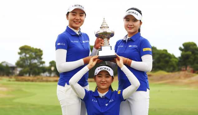 Team Korea at the Queen Sirikit Cup 2019 - Image from Golf Australia