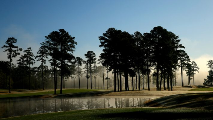 A general view of fog on the course during Round 1 for the Augusta National Women's Amateur, Wednesday, April 3, 2019.