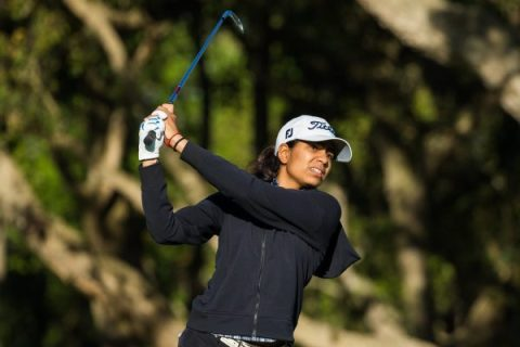 25/04/2019. Ladies European Tour 2019. Lalla Meryem Cup, Royal Golf Dar Es Salam, Rabat, Morocco. 25-28 April 2019. Diksha Dagar of India during the first round. Credit: Tristan Jones