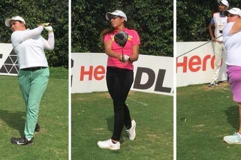 Leaders in Leg 7 of Hero WPGT 2019 - Amandeep, Gaurika and Gursmar