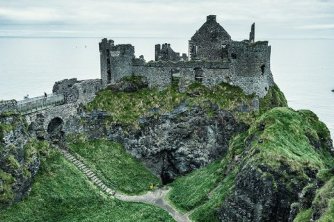 Dunluce Castle in Antrim County - Northern Ireland Tourism Image