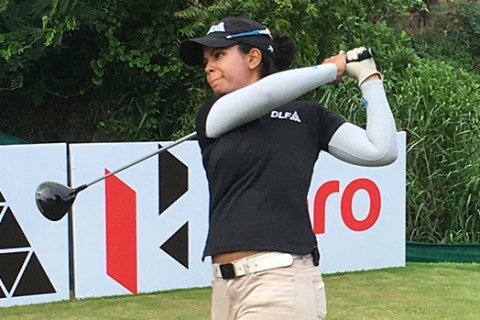 vani_kapoor leads second round of 11th leg by three shots