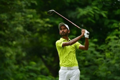 CGCC_Rashid Khan during the final round at Classic Golf & Country Club