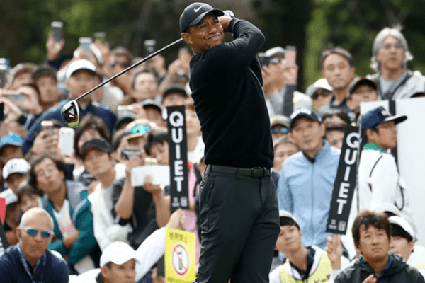 Tiger Woods shares first round lead at ZOZO Championship