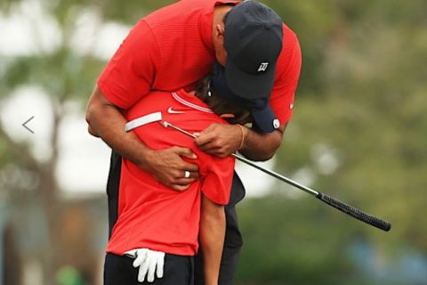 Tiger and Charlie Woods Duo