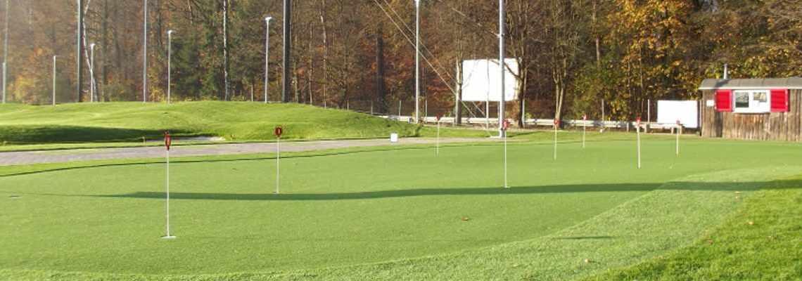 Puttinggreen der GolfKultur im Wald