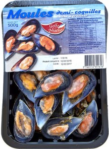 Moules demi-coquille