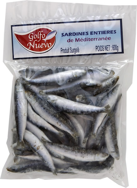 sardines entières de méditerranée