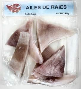 ailes de raie produits surgelés