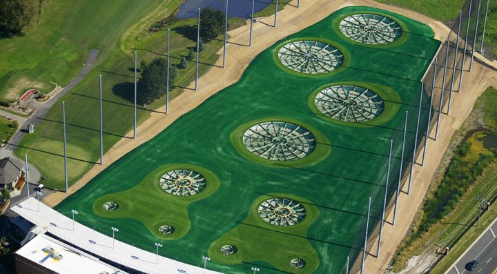 Driving Range Netting Design   Install  TopGolf Wood Dale  IL Golf Driving Range Barrier Netting TopGolf Wood Dale