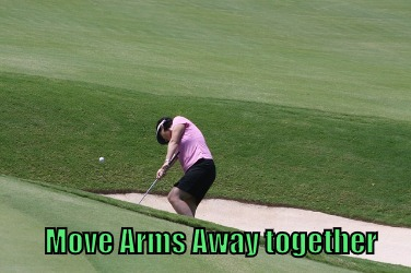 Move Arms Away together