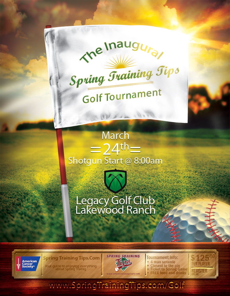 Spring Training Tips Golf Tournament / Baseball Game