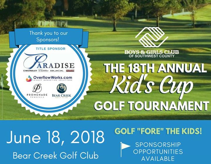BGCSWC's 18th Annual Kid's Cup Golf Tournament