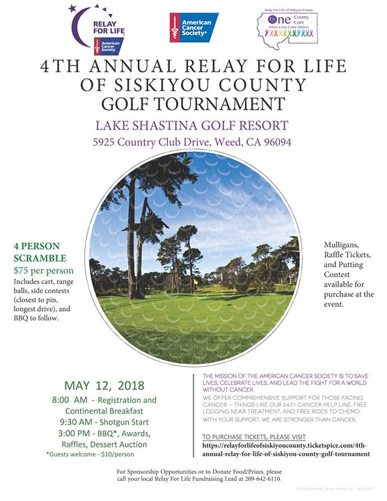 4th Annual Relay For Life of Siskiyou County Golf Tournament