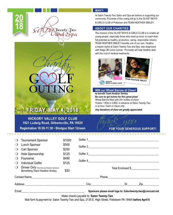 Salon Twenty-Two Golf Outing 2018