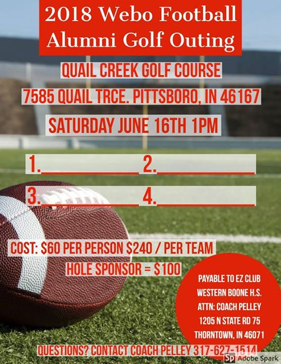 2nd Annual Webo Football Golf Outing