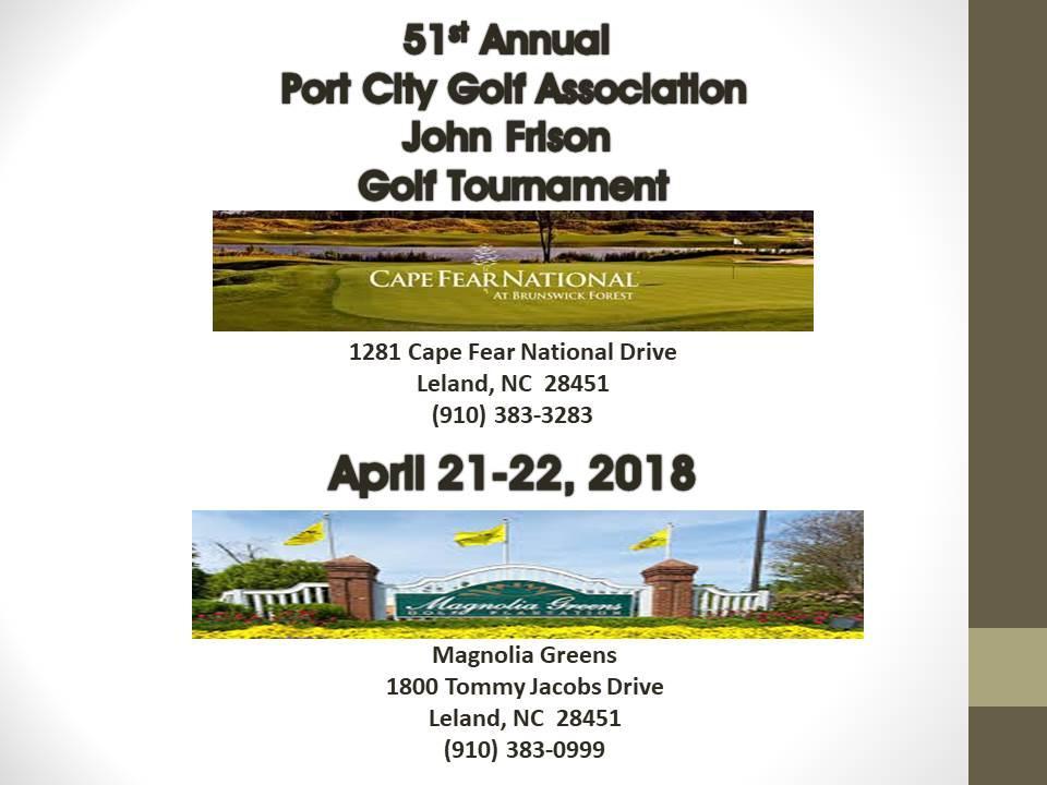 51st Annual Port City Golf Association John Frison Golf Tournament