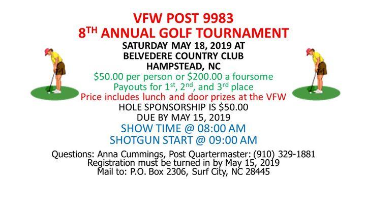 VFW Post 9983 - Spring Golf Tournament
