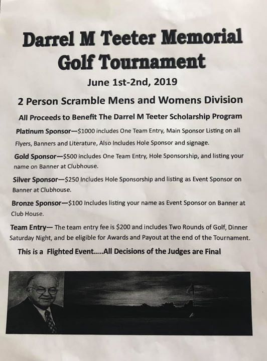 Darrel M Teeter Memorial Golf Tournament