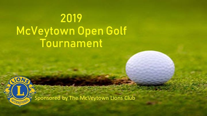 2019 1st Annual McVeytown Open Golf Tournament