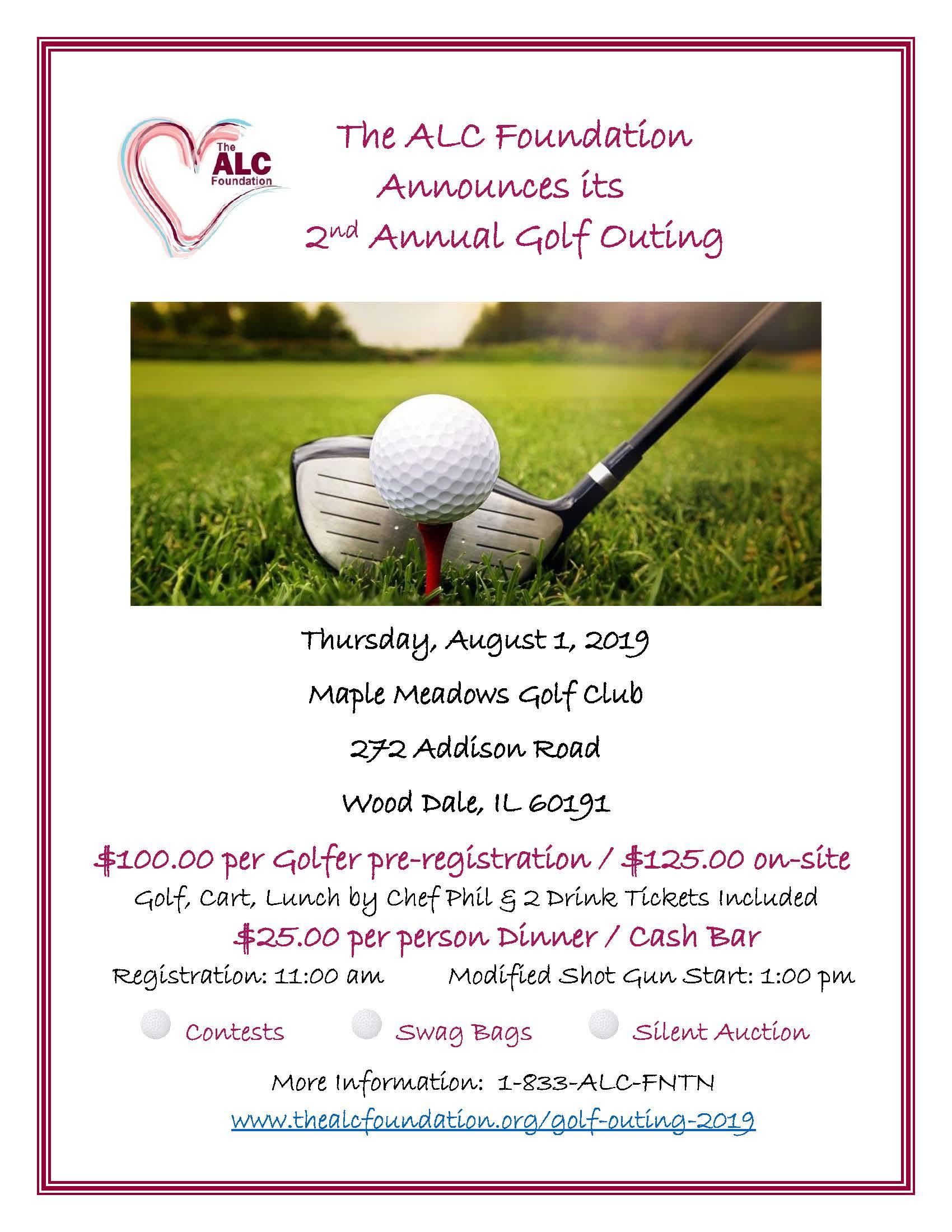 The ALC Foundation 2019 Golf Outing to Support Those in Need