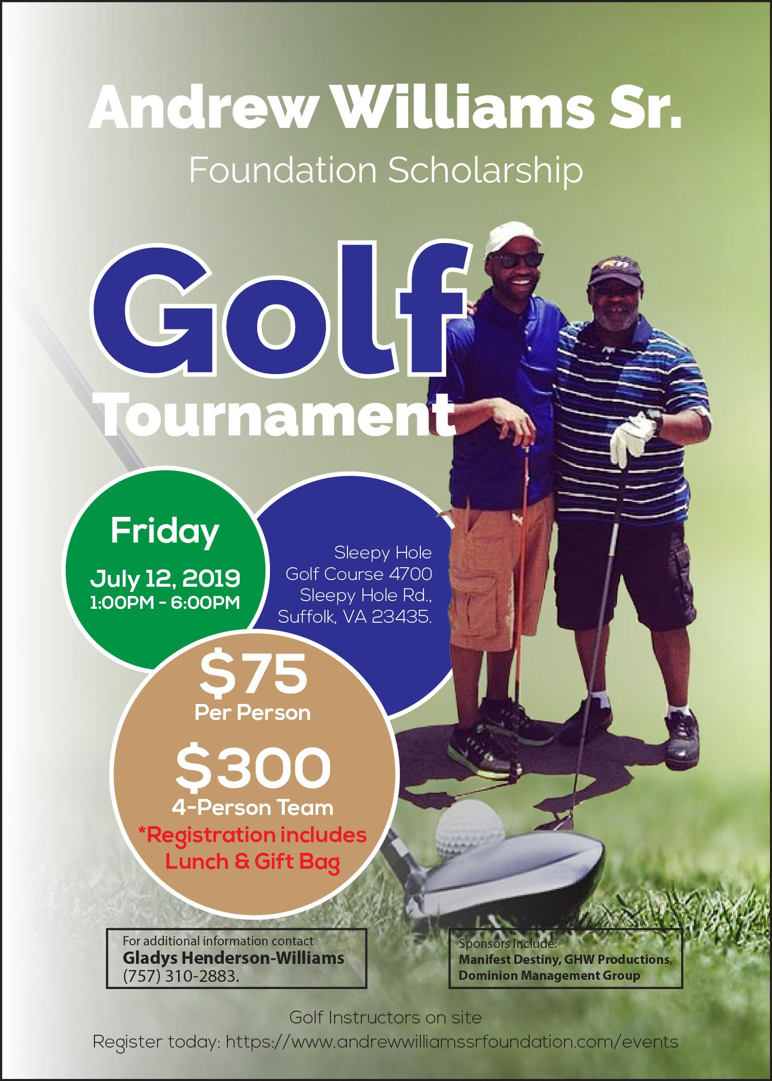 2nd Annual Andrew Williams Sr. Foundation Scholarship Golf Tournament