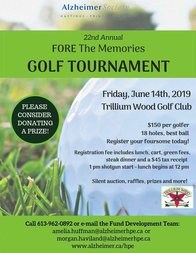 Alzheimer Society 'Fore The Memories' Golf Tournament