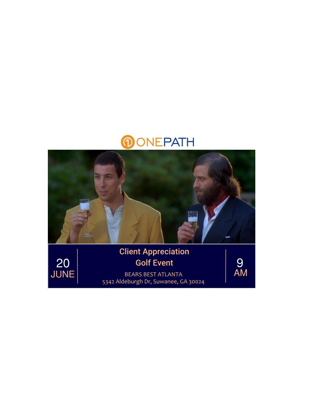 Onepath Client Appreciation Golf Event