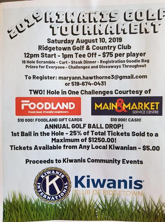 2019 Kiwanis Golf Tournament