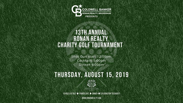 13th Annual Ronan Realty Charity Golf Tournament
