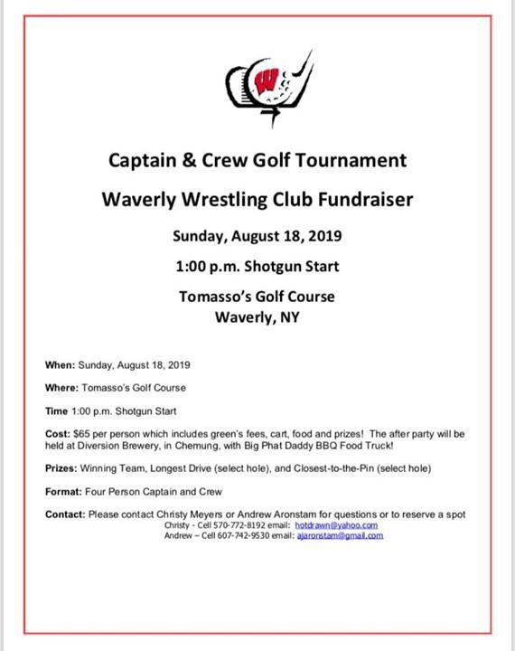 Waverly Wrestling Golf Tournament