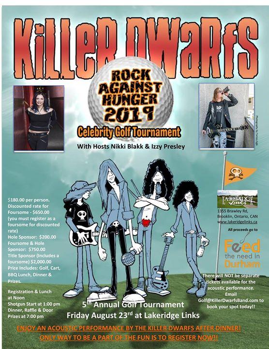 Killer Dwarfs 5th annual Rock Against Hunger Golf Tournament