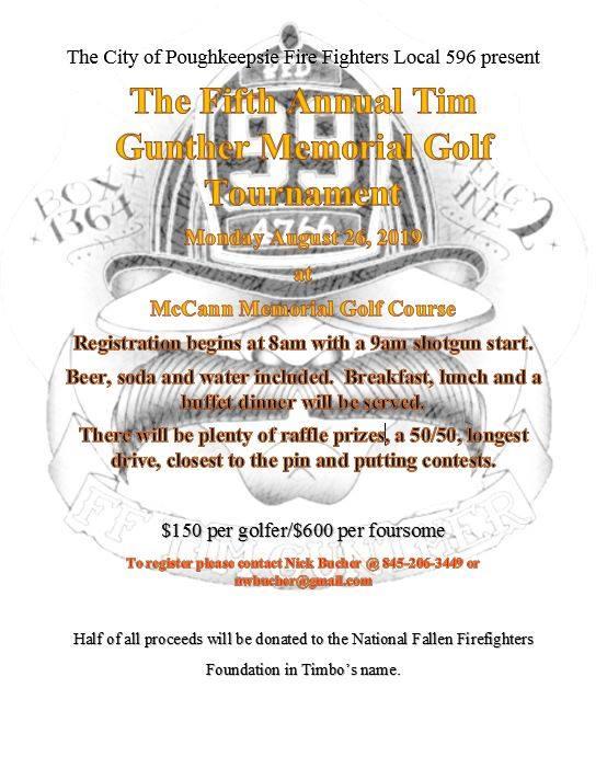The Fifth Annual Tim Gunther Memorial Golf Tournament