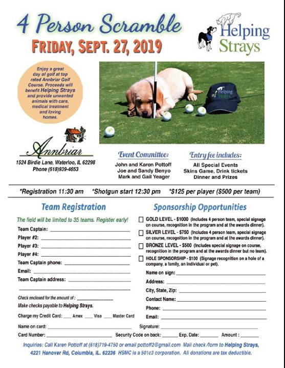 Helping Strays 9th Annual Golf Tournament