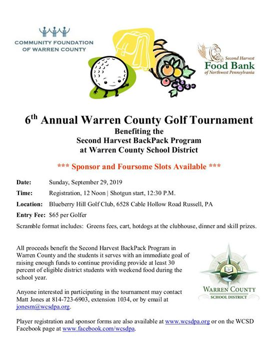 6th Annual Second Harvest BackPack Golf Tournament