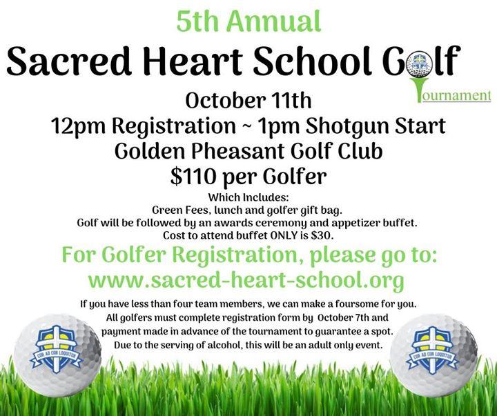 Sacred Heart 5th Annual Golf Tournament