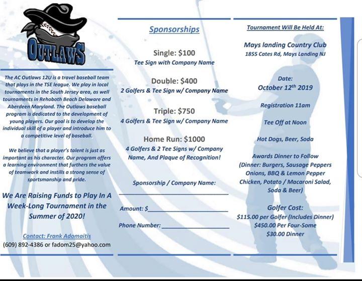 AC Outlaws 12U Golf Tournament