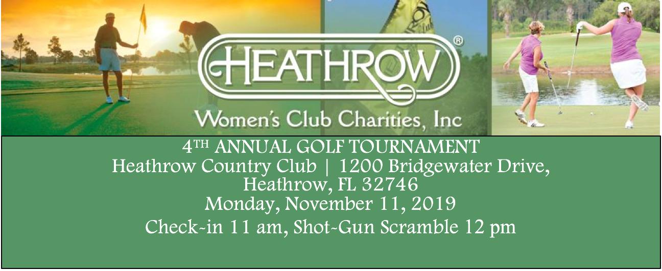 Heathrow Women's Club Annual Golf Tournament 2019