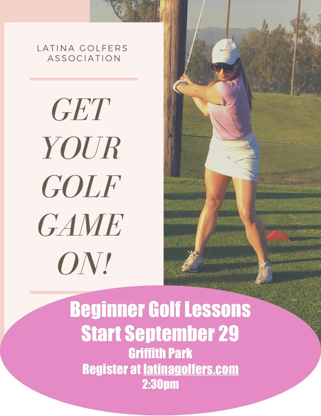 Latina Golfers Beginner Golf Lessons 2:30pm