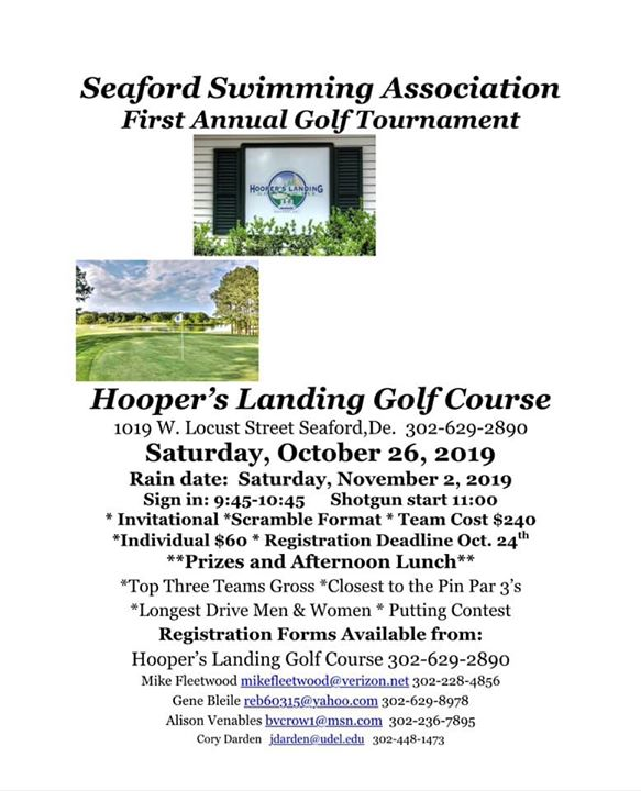 Seaford Swimming Association 1st Annual Golf Tournament