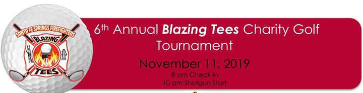 6th Annual Blazing Tees Charity Golf Tournament
