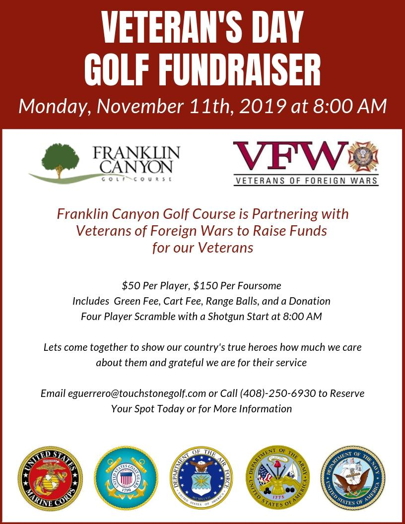 Veteran's Day Golf Fundraiser at Franklin Canyon