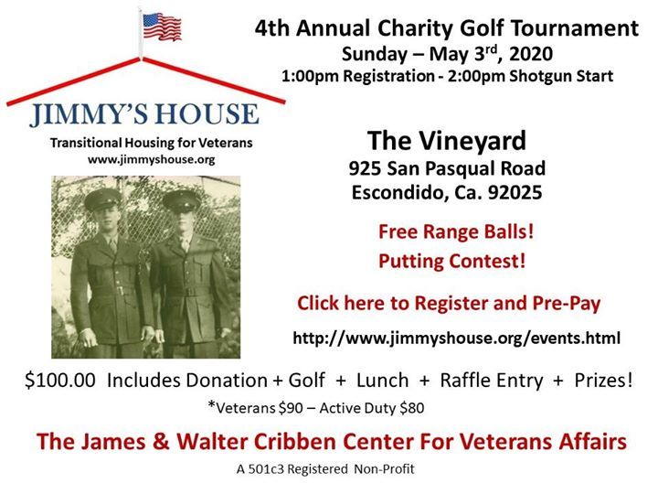 Jimmy's House 4th Annual Golf Tournament