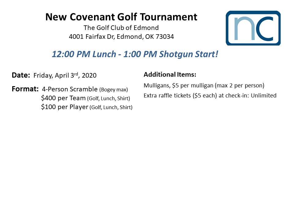 New Covenant Golf Tournament